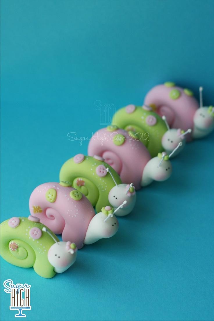 Whimsical Fondant Snails