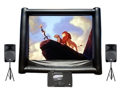 Inflatable Movie Screen Rental, Outdoor Movie Screen, Backyard Movie Screen | Magic Jump Rentals