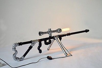 Retro-Industrial-Gun-Shape-Water-Pipe-Desk-Lamp-Bar-Bedroom-Originality-Light