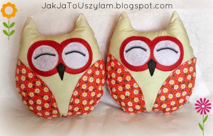 poduszki sowy http://jakjatouszylam.blogspot.com/