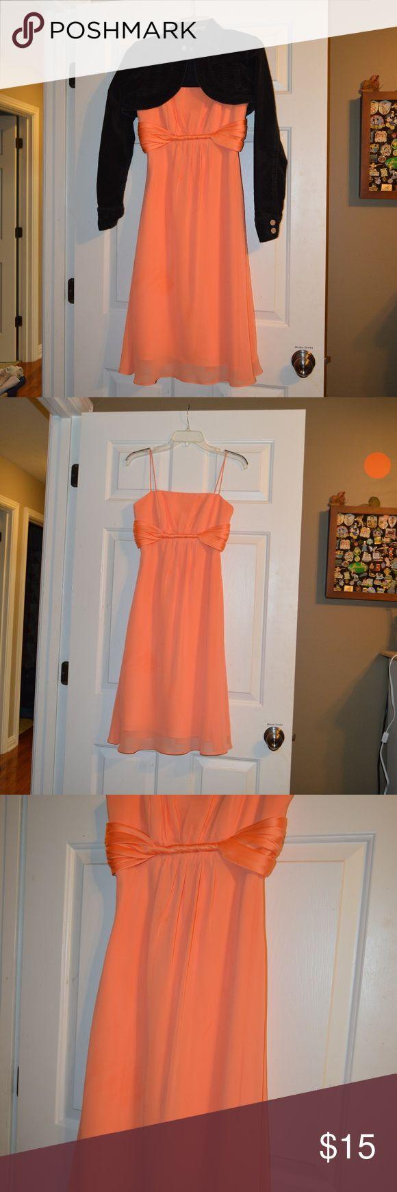 Strapless Orange FORMAL Dress