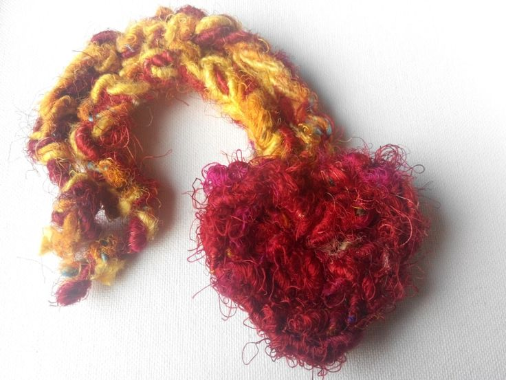Metal-free Sari silk choker. made in ireland. by terramor on Etsy
