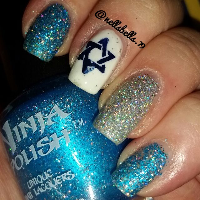 17 Best Jewish Nail Designs Images On Pinterest Holiday Nails The Star Of David
