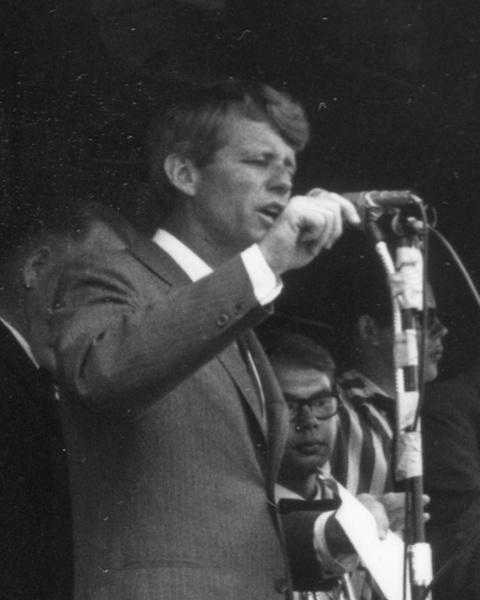 robert f kennedy speech on the Jim whittaker, wearing knit cap, and senator robert f kennedy, are shown arriving at the base camp of mt kennedy, 150 miles west of.