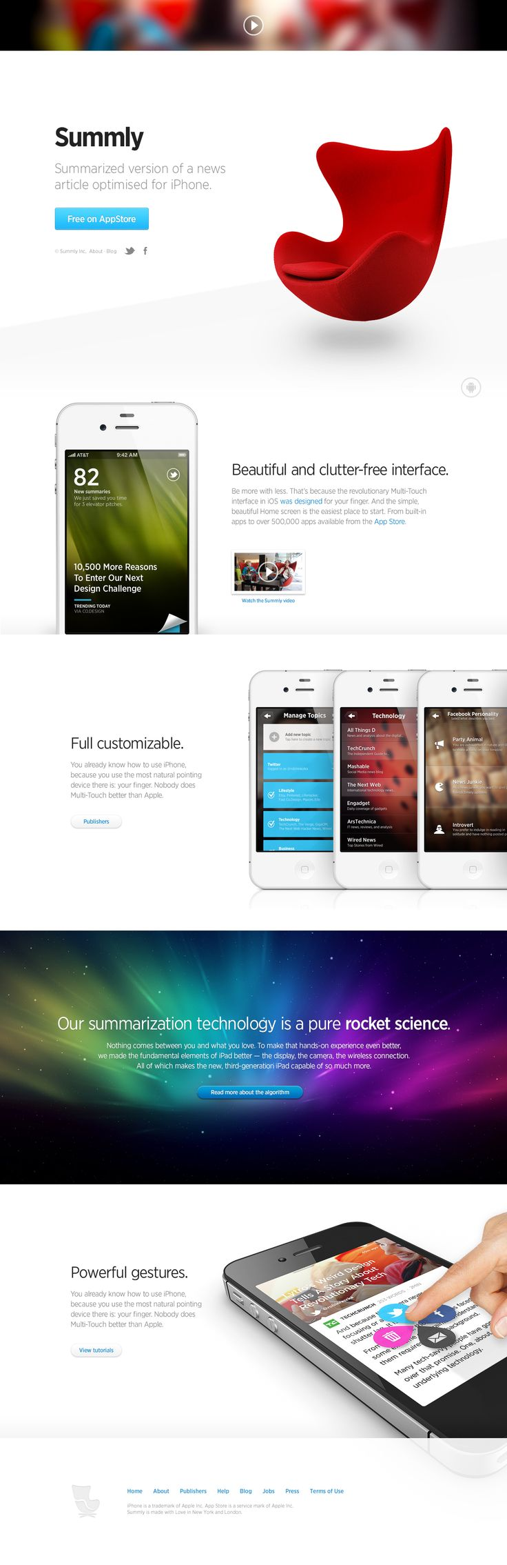 Landing page for Summly by Robin Raszka  #webdesign