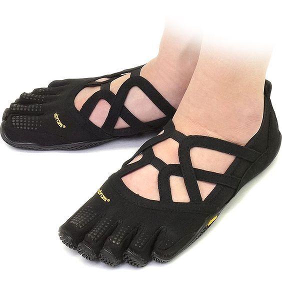 V-Run, Chaussures de Running Compétition Homme - Noir - Black (Black/Yellow) - 45 EUVibram Fivefingers