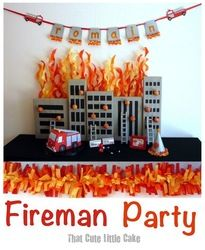 21 best Firehouse birthday party images on Pinterest Birthdays