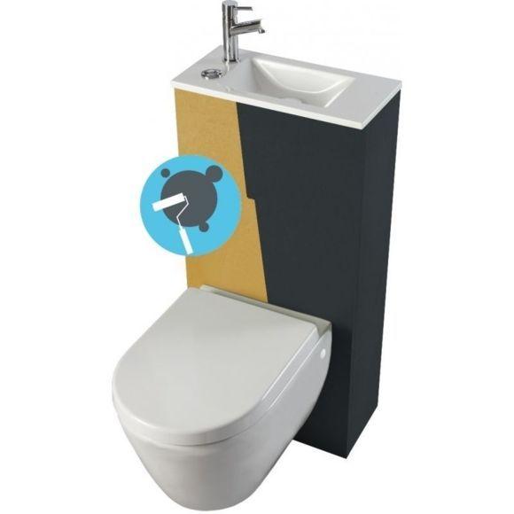 17 meilleures id es propos de abattant wc sur pinterest abattant abattan - Toilette avec lave main integre castorama ...
