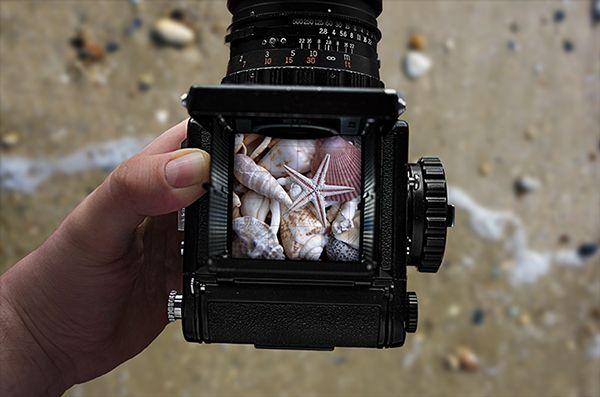 Realistic Camera Free PSD Mockups