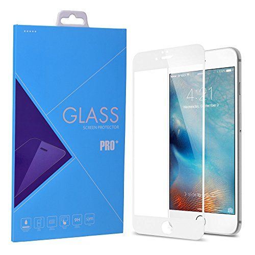 iPhone 6 / 6s Screen Protector, Laxier(TM) 0.33mm 9H Hardness Curved Edge Full Coverage Premium Tempered Glass Screen Protector Film For Apple iPhone6