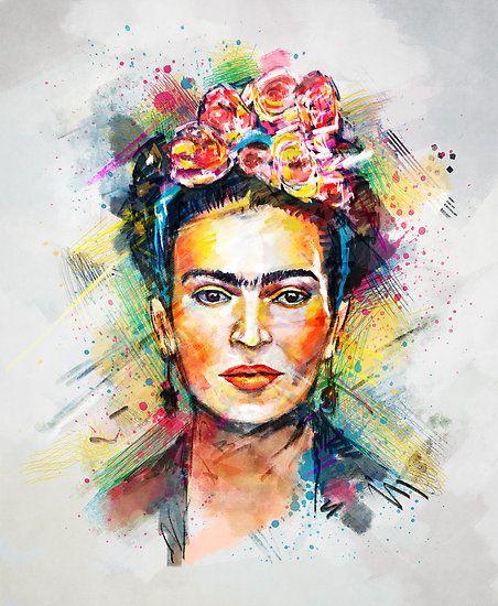 "beautiful frida kahlo art and images | Frida Kahlo"" by Tracie Andrews | Redbubble"