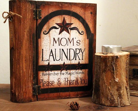 Thank You, Book Box, Mom's Laundry, Country Style, Rustic, Farmhouse Style Decor, Home & Living, Home Decor, Gift box, For Her, Recipe box