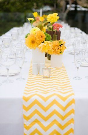#yellow wedding table ... For more wedding ideas for brides, grooms, parents & planners  ... https://itunes.apple.com/us/app/the-gold-wedding-planner/id498112599?ls=1=8 ... plus how to organise your entire wedding ... The Gold Wedding Planner iPhone App ♥