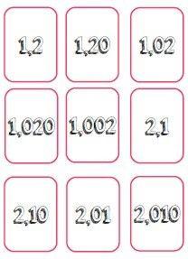 Bataille des nombres décimaux CM1-CM2