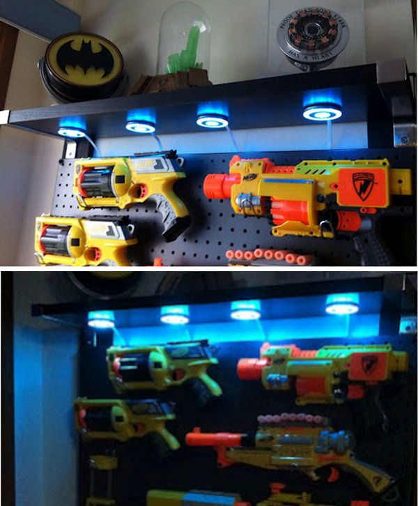 This Nerf Gun Display Case Is Perfect For A Boy S Room