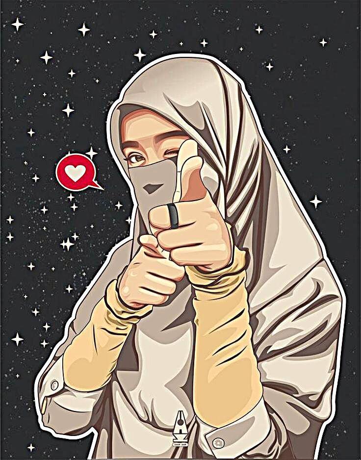 Pin oleh Black edelweish di hijab di 2020 Kartun