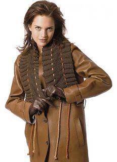 Любимая вышивка и вязание: Простой в исполнении и оригинальный шарф с рюшами