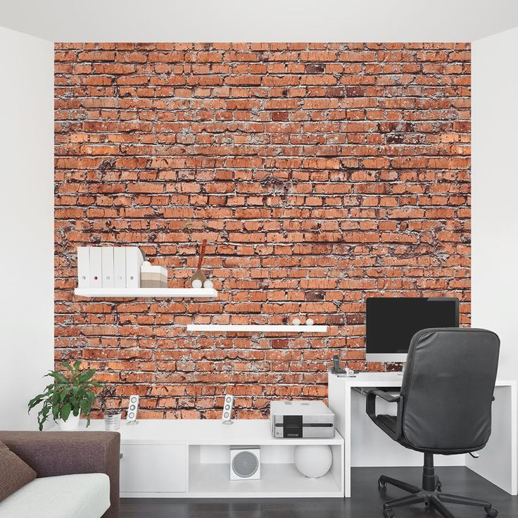 25 best ideas about red brick walls on pinterest bricks - Fake brick wall covering interior ...
