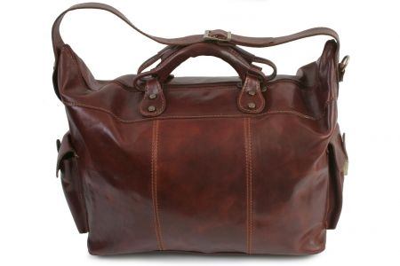 Nobile brown leather travel bag : for my man