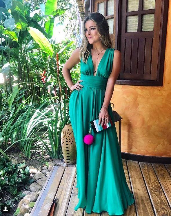 364fe8afa vestido de festa verde ideal para convidada de casamento na praia ...