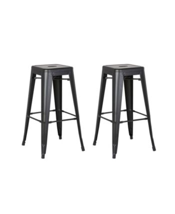 Ac Pacific Backless Industrial Metal Bar Stool Set Of 2 Reviews