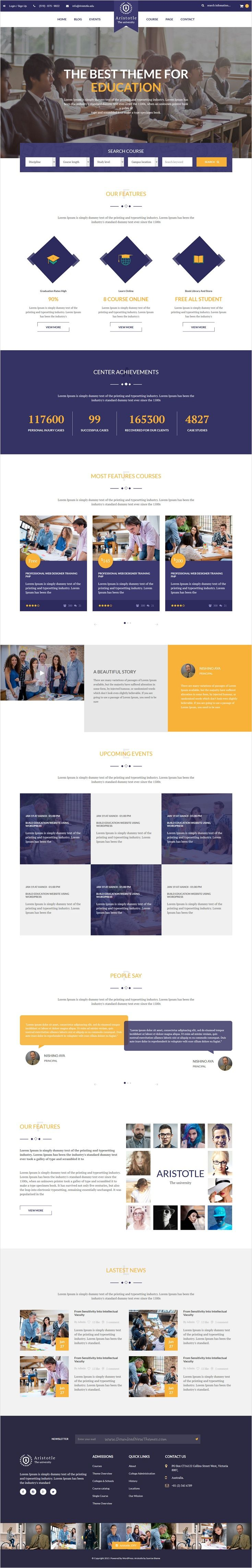 Aristotle is perfect 4 in 1 #bootstrap HTML #template for College, #University, #School, Academy, Online Courses, Online Tutors, LMS and all other Educational Institutions websites download now➩ https://themeforest.net/item/aristotle-education-html-template/17437662?ref=Datasata