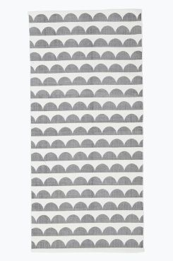 Ellos Home Bomuldsgulvtæppe Joanna 70x150 cm med printet, retroinspireret…