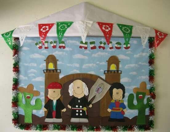 Periodico mural de septiembre / fiestas patrias
