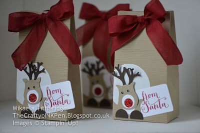 Mikaela Titheridge, Independent Stampin' Up! Demonstrator, The Crafty oINK Pen, Cambridgeshire, UK. Christmas Gift Packaging, Voucher Holders, Gifts and Fairs Dec 2015 www.thecraftyoinkpen.stampinup.net