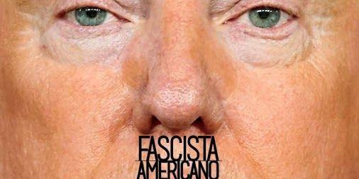 The cover features a Hitler mustache. http://www.motherjones.com/media/2016/09/donald-trump-hitler-mustache-american-fascist-letras-libres