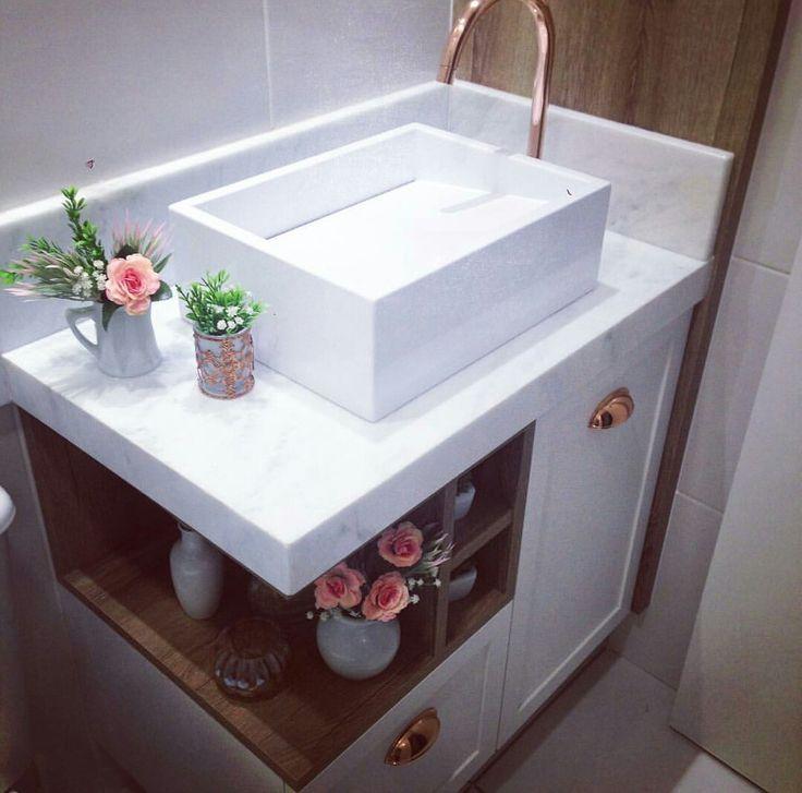 Idéia perfeita para banheiro pequeno