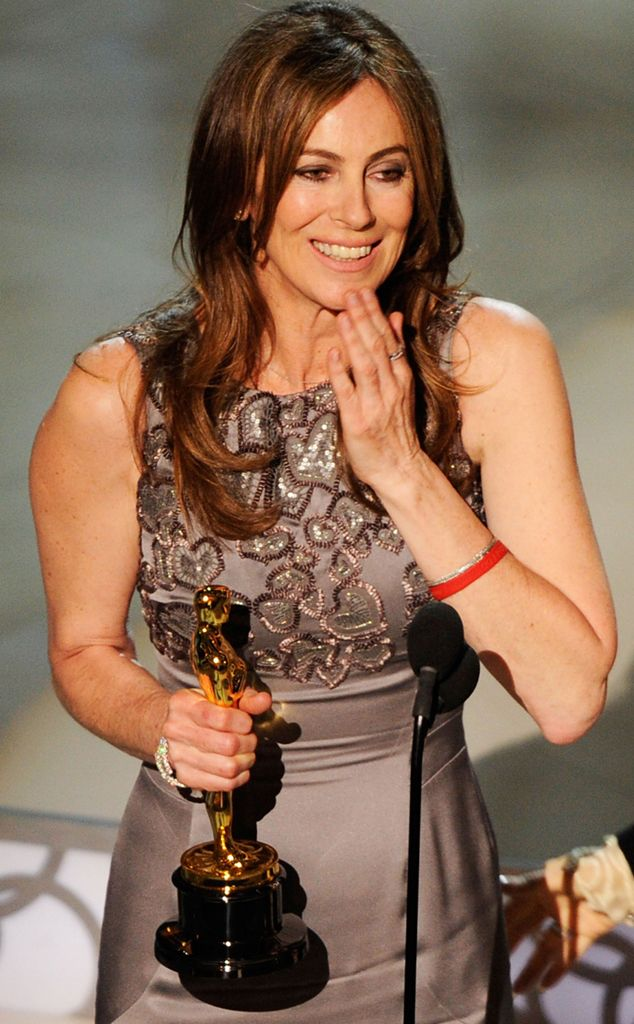 The Hurt Locker helmer made history as the first woman to take home an Oscar in the Best Director category.