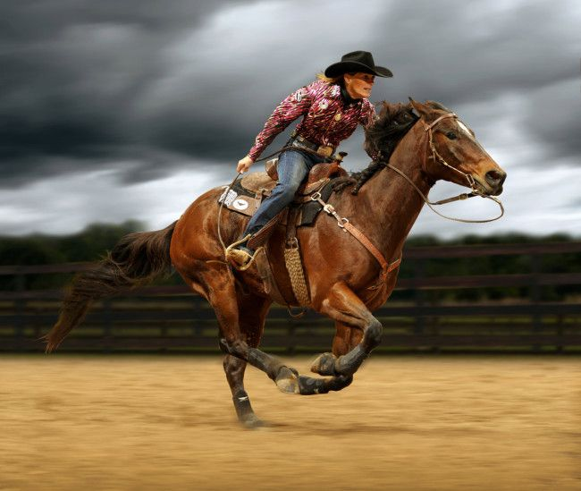 Cowgirl riding cowboy-2267