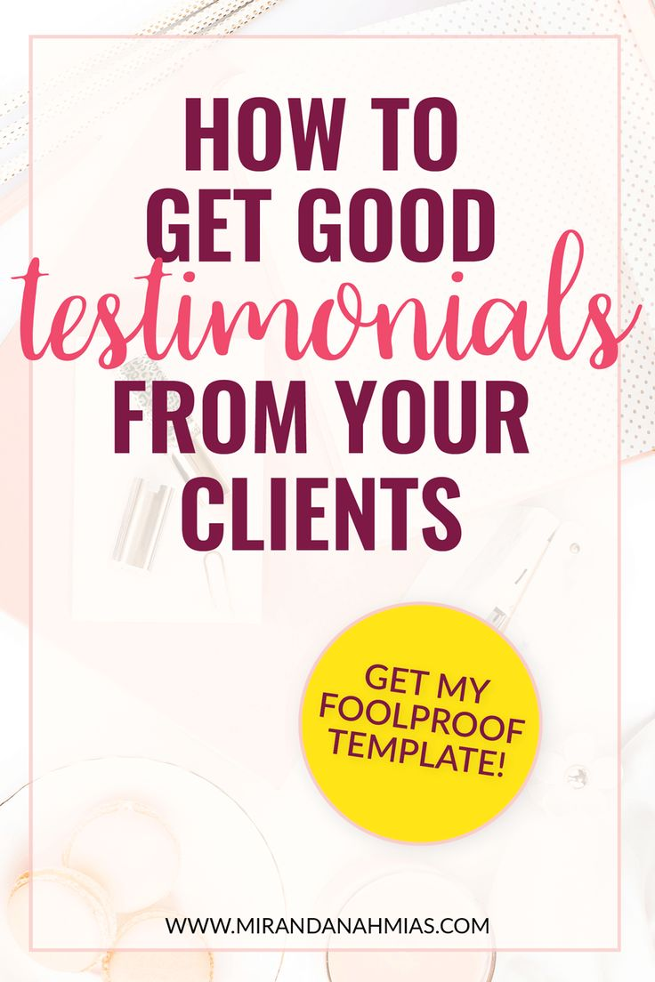 How to Get Good Testimonials From Your Clients. A step-by-step tutorial, plus an email and survey template from yours truly! // Miranda Nahmias & Co. Digital Marketing Agency and Virtual Assistance Team