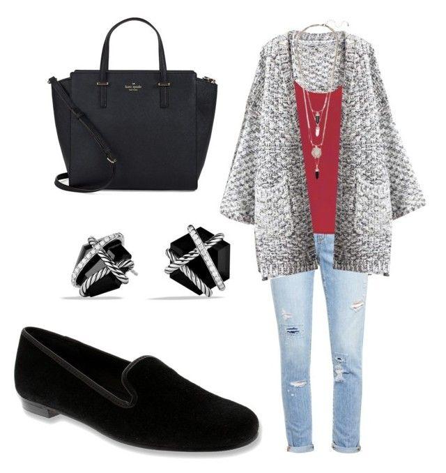fall/winter by tayken3 on Polyvore featuring polyvore fashion style True Decadence Chicnova Fashion Paige Denim Elites by Walking Cradies Kate Spade David Yurman clothing