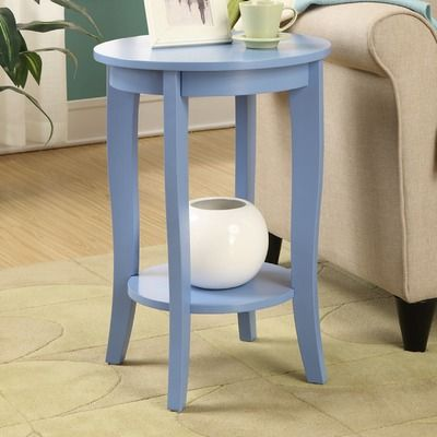 "Convenience Concepts American Heritage Round End $56   18""    Table & Reviews 