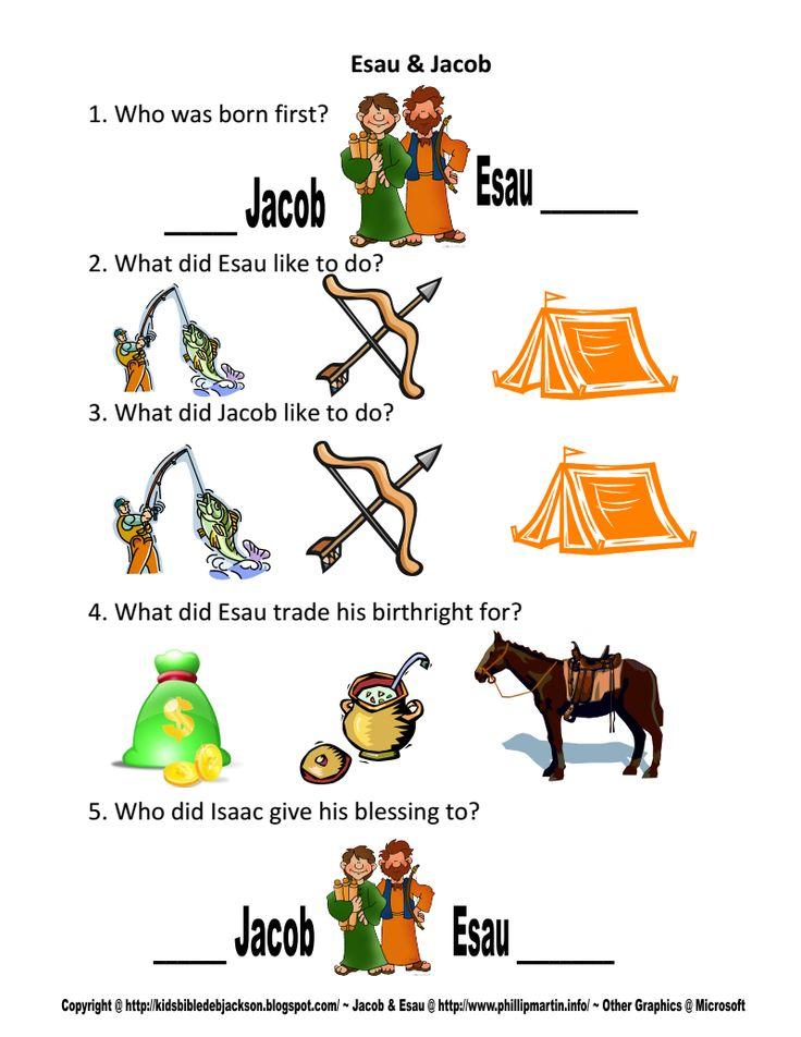 jacob and esau | bible heroes | Bible for kids, Bible ...