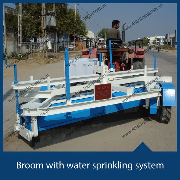 Buy #MadeinIndia #MechanicalBroom which is easy to use and simple to maintain. Featured here is broom with water sprinkling system to reduce the dust while cleaning.