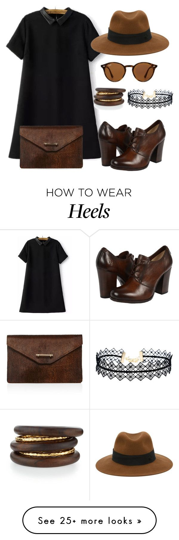 """Oxford heels."" by fashionxx101 on Polyvore featuring M2Malletier, Frye, Ray-Ban, Maison Michel, LULUS and NEST Jewelry"