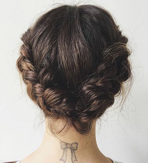 The Product Lucy Hale's Stylist Swears By to Transform Her Short Hair Into a Braided Updo  The one major gripe about getting a super-short lob: Your styling options become limited. Never mind getting it into a workable ponytail, you're not even going to attempt a braided updo without hair past your shoulders. Or are you? Lucy Hale, bearer of one of the cutest short bobs around, proved last weekend that you most definitely can turn short hair into an updo. Her stylist, Kristin Ess,  recently…
