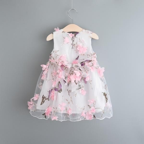 2017 Summer New Princess Girl Dress kids Flowers Girl Dress Children Clothing