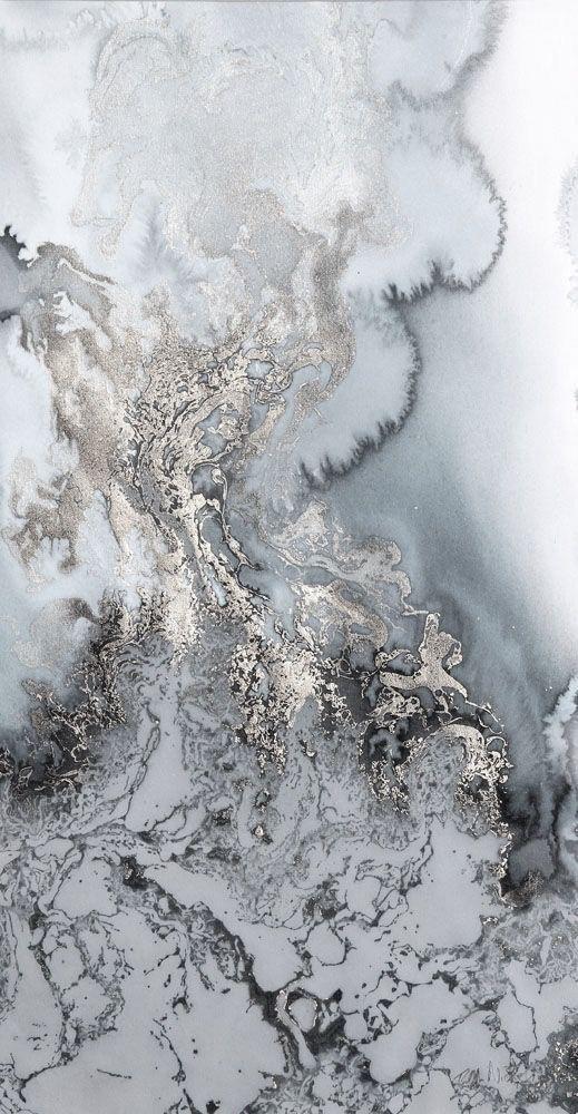 Marbled silver wonderland