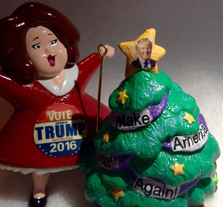 Donald Trump Ornament Upcycled Rosie O'Donnell Votes For Donald Christmas #Christmas