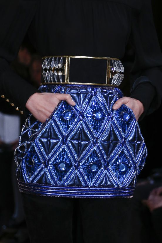 Balmain FW 13-14 soon on www.musestyle.com #musestyle blue mini skirt with sequins and all black