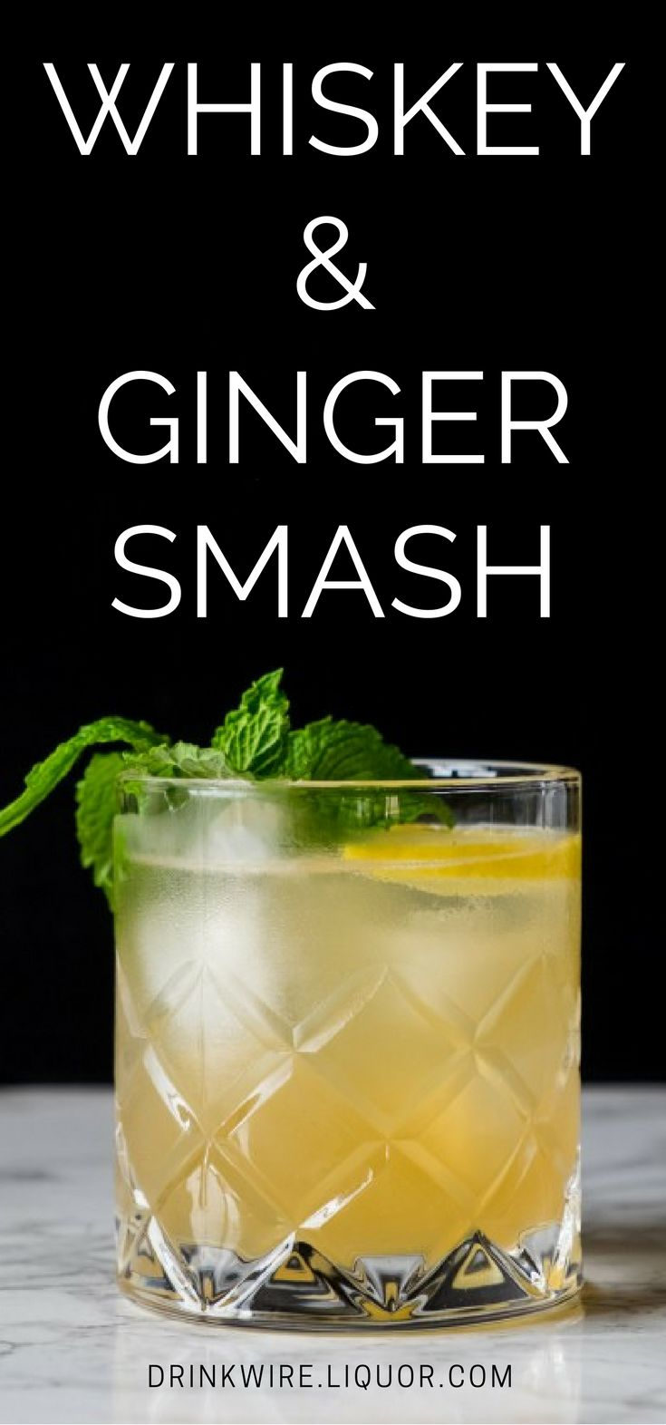The #Whiskey & Ginger Smash is a terrific combo! They're like the #perfect couple. Great on their own but at their best together.