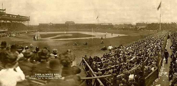 South Side Park, Chicago, 1909. Baseball classic