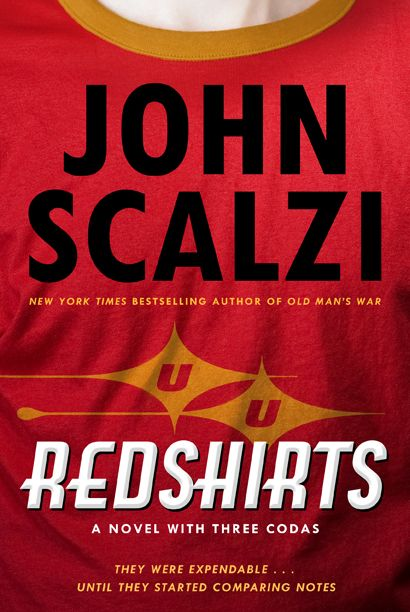 Redshirts John Scalzi; A Novel with Three Codas. The dialogue read like a stiff script, but a very fun concept.