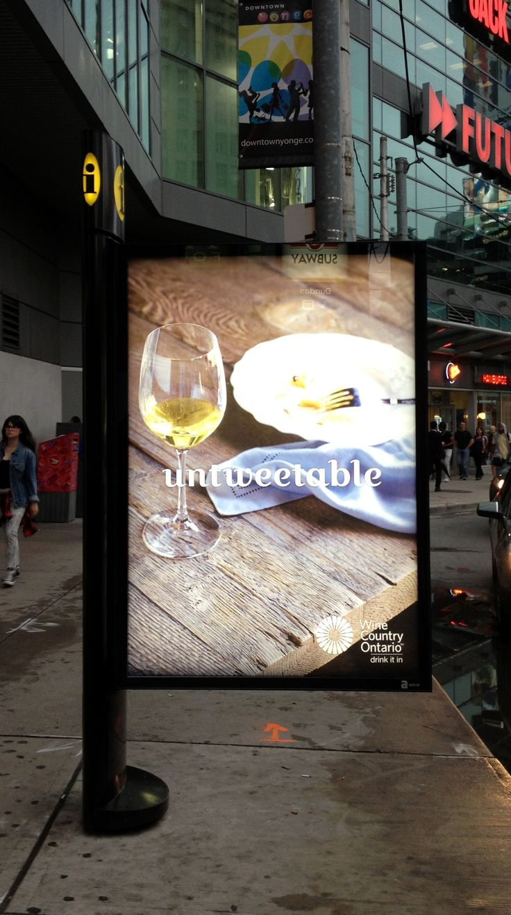 #untweetable Wine Country Ontario Ad