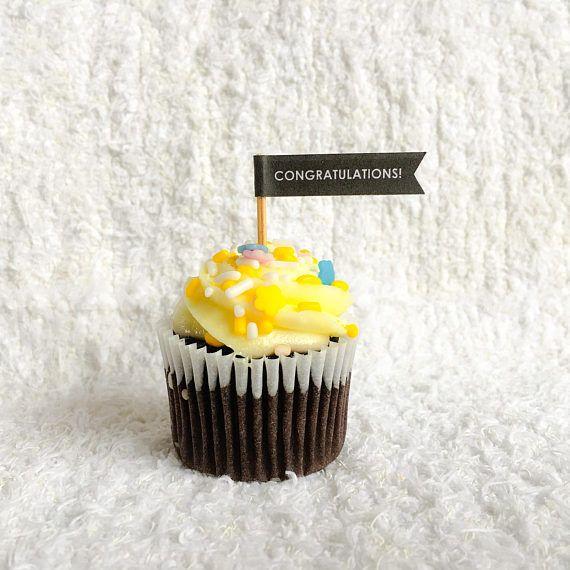 Congratulations Cupcake Flag  #congratulations #etsy #etsyshop #etsyseller #etsysellers #etsyyxe #yxeetsy #etsysaskatoon #saskatoonetsy #yxeetsyseller #etsybestsellers #cupcake #cupcaketoppers #cupcaketoppersforsale #partysupplies #flag #cupcakeflag #cupcakeflags