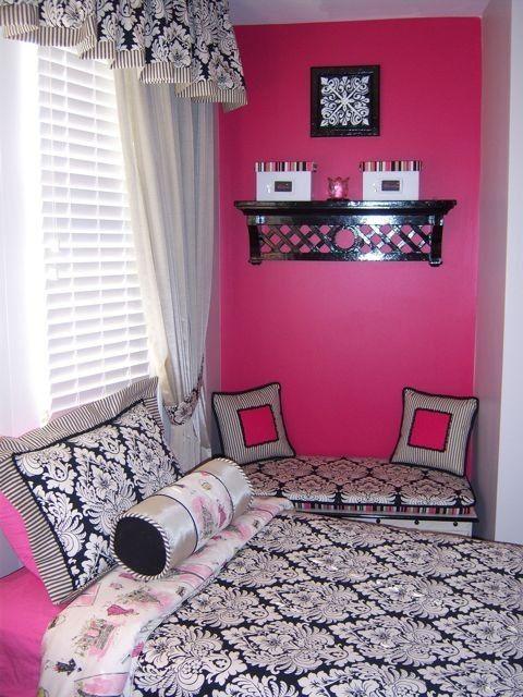 Pink And Black Girls Bedrooms 81 best room ideas images on pinterest | bedroom ideas, girls